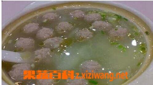 果蔬百科冬瓜丸子汤